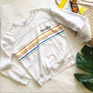 Freeze Bonita Rainbow Sweatshirt Size XS EUC